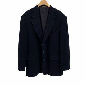 Oscar de la Renta black wool/cashmere  blazer